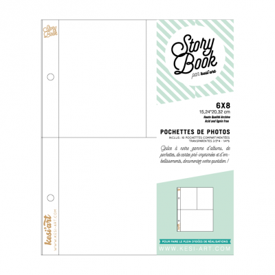Pochettes 6x8 Story Book - Compartimentées