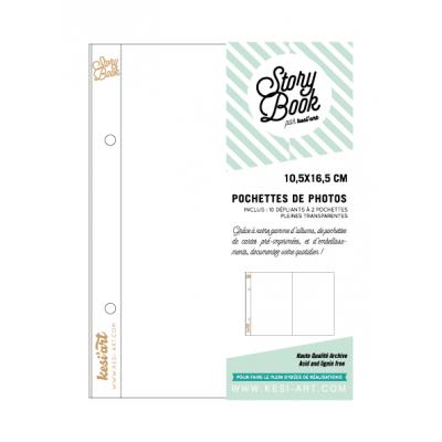 Pochettes 10x16 cm Story Book - Dépliants à 2 pochettes
