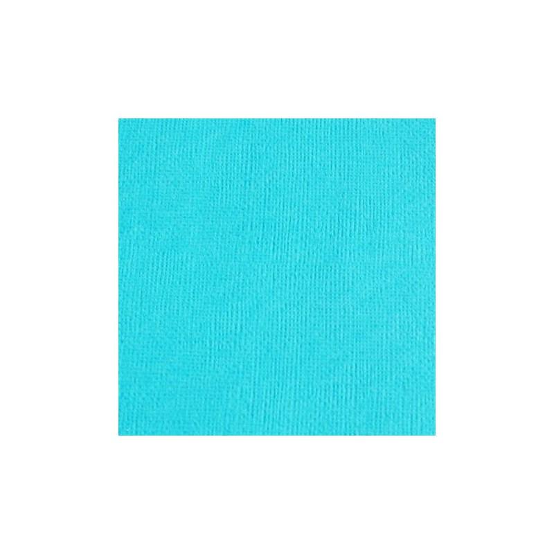 Cardstock texturé canvas - Coloris Bleu Turquoise