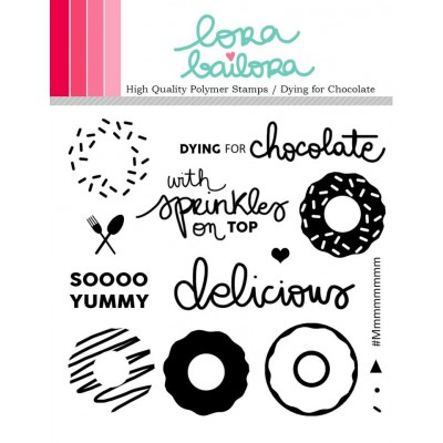 Tampons clear Lora Bailora - Dying for Chocolate