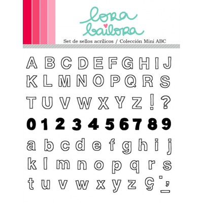 Tampons clear Lora Bailora - Mini ABC