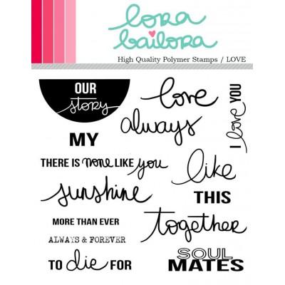 Tampons clear Lora Bailora - Love