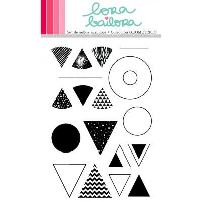 Tampons clear Lora Bailora - Geometrico