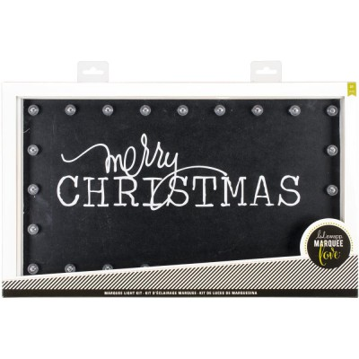 Kit d'éclairage Marquee Love - Merry Christmas Chalkboard