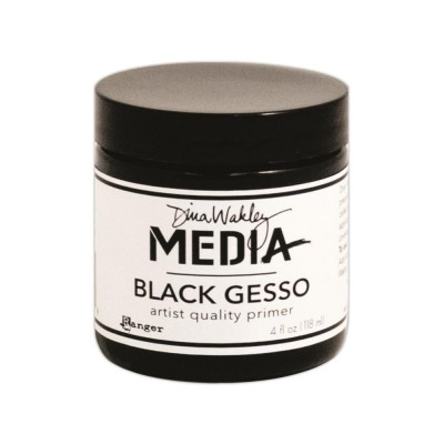 Gesso noir Dina Wakley 118 mL