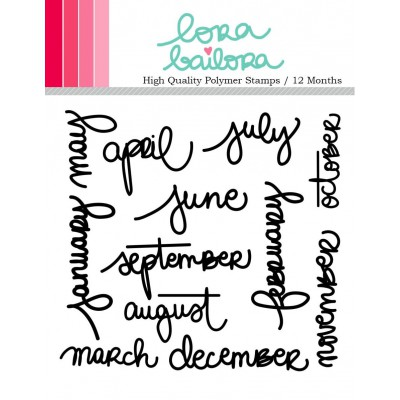 Tampons clear Lora Bailora - 12 Months