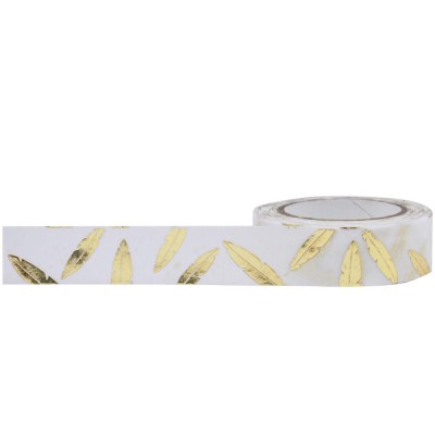 Foil Tape - Gold Feathers