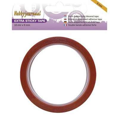 Adhésif double-face rouge - Extra Sticky Tape - 9 mm