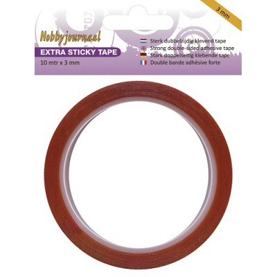 Adhésif double-face rouge - Extra Sticky Tape - 3 mm