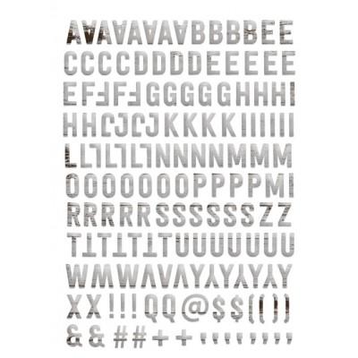 Alphabet Puffy Evalicious - Grey Woodgrain