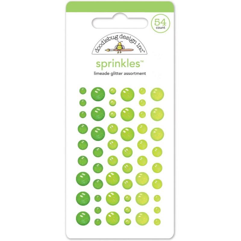 Sprinkles Dots - Glitter - Limeade