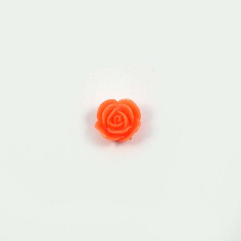 Rose en résine 15mm (lot de 20) - Orange
