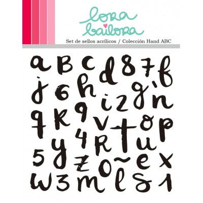 Tampons clear Lora Bailora - Hand ABC
