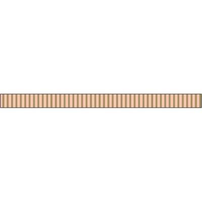 Foil Tape - Gold Grosgrain 3 mm