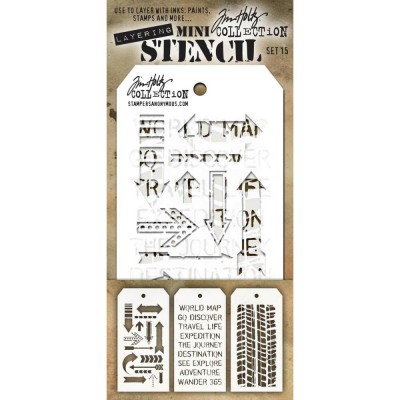 Mini Layered Stencil Tim Holtz - Set 15