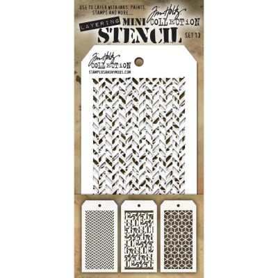Mini Layered Stencil Tim Holtz - Set 13