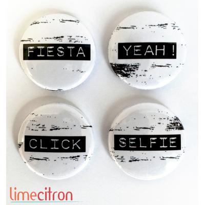 "Badges Lime Citron 1"" - Fiesta"