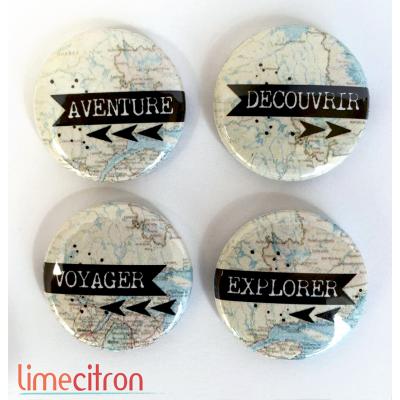 """Badges Lime Citron 1"""" - Aventure"""