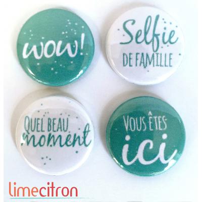 "Badges Lime Citron 1"" - WoW!"
