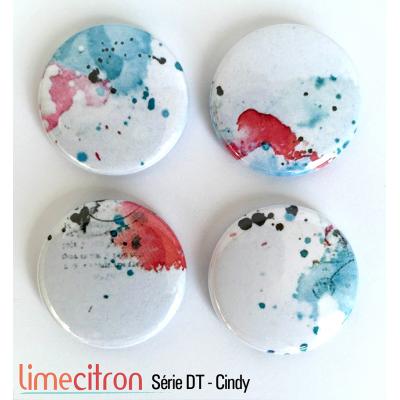 """Badges Lime Citron 1"""" - Série DT - Cindy"""