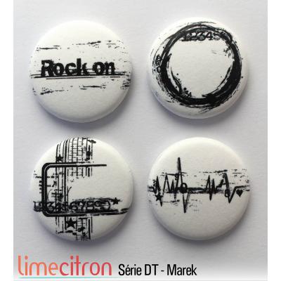 """Badges Lime Citron 1"""" - Série DT - Marek"""