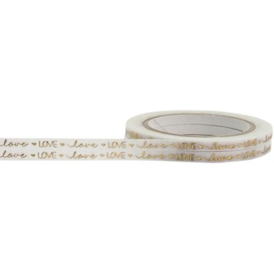 Foil Tape - Gold Love 3 mm