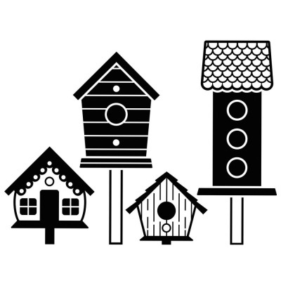 Pochoir de gaufrage Darice - Birdhouses Post (nichoirs)