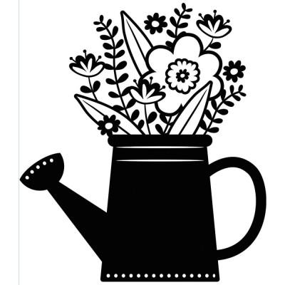 Pochoir de gaufrage Darice - Flowers in Water Can (Fleurs dans l'arrosoir)
