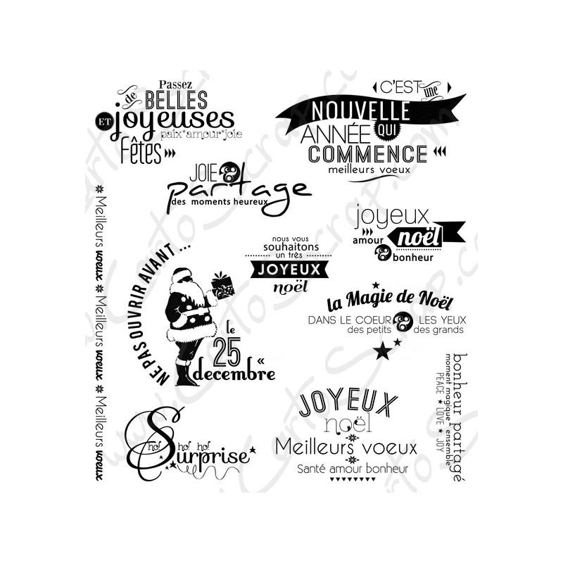 Tampons CartoScrap - La Magie de Noël (Nouvelle édition)