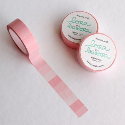 Washi Tape Lora Bailora - Dégradé rose pastel