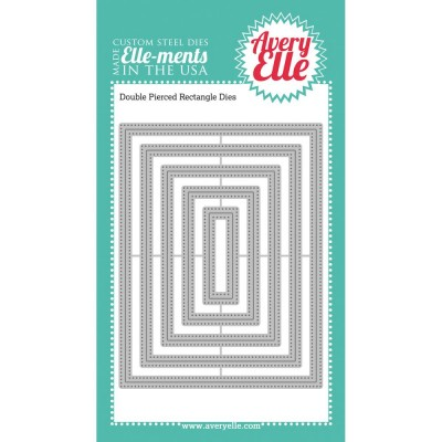 Die Avery Elle - Double Pierced Rectangles