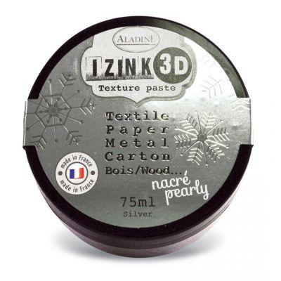Pâte de texture Izink 3D - Nacrée - Silver