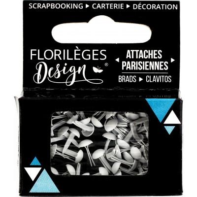 Mini Brads - Attaches Parisiennes - Florilèges - Edelweiss