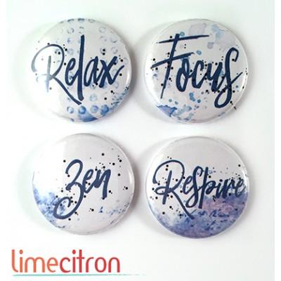 """Badges Lime Citron 1"""" - Focus"""