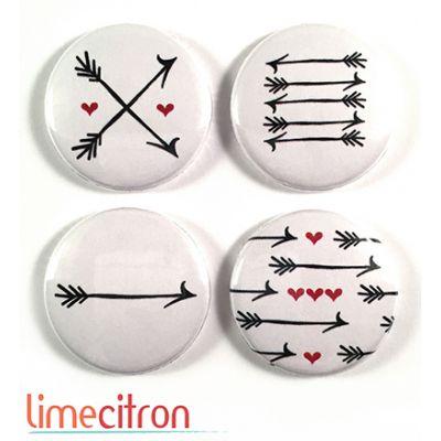 """Badges Lime Citron 1"""" - Flèches"""