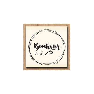 Tampon bois Swirlcards - Bonheur
