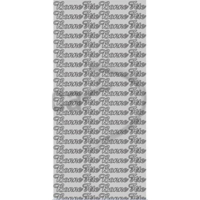 Stickers Peel-off - Bonne Fête - Argent (Geca)