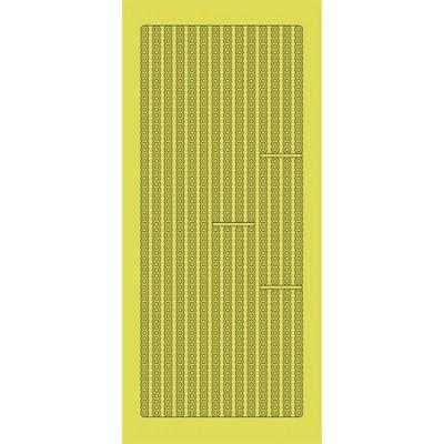 Stickers Peel-off - Bordure Petits Ronds - Or