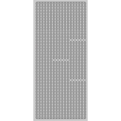 Stickers Peel-off - Bordure Petits Ovales - Argent