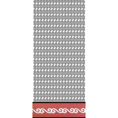 Stickers Peel-off - Bordure Arabesques - Blanc