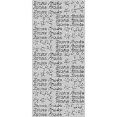 Stickers Peel-off - Bonne Année - Argent