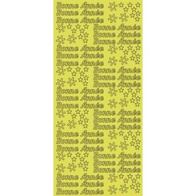 Stickers Peel-off - Bonne Année - Or