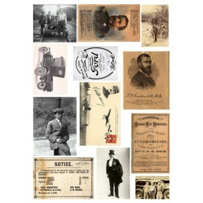 Feuille d'images Vintage - Vintage Gentlemen