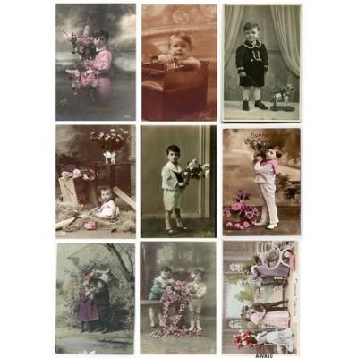 Feuille d'images Vintage - Boys