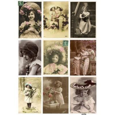Feuille d'images Vintage - Girls