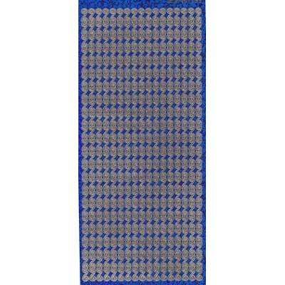 Stickers Peel-off - Bordure Arabesques - Bleu Diamant
