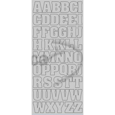 Stickers Peel-off - Alphabet Grand - Argent