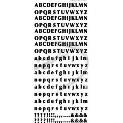 Stickers Peel-off - Alphabet Petit - Noir