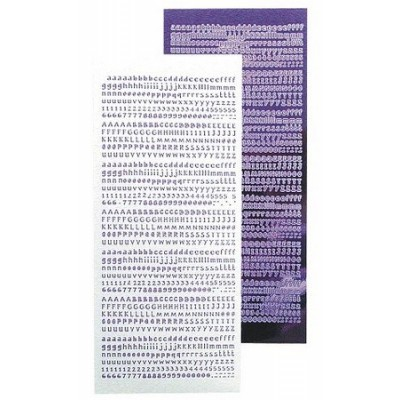 Stickers Peel-off - Alphabet - Violet