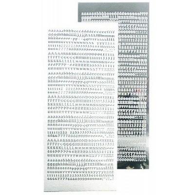 Stickers Peel-off - Alphabet - Argent
